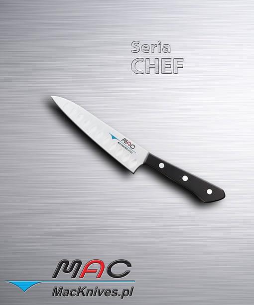 Nóż do obierania, lekki i bardzo ostry nóż z wyżłobieniami Granton, do obierania, krojenia i siekania. Ostrze 130 mm