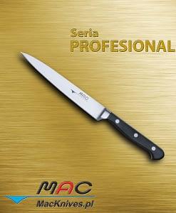 Sole Fillet Knife – nóż do filetowania. Ostrze 175 mm Wyjątkowo cienki i elastyczny nóż do filetowania. Przeznaczony do filetowania, ale równie wygodny do krojenia bardzo cienkich plastrów z ryb, mięs, owoców i warzyw.