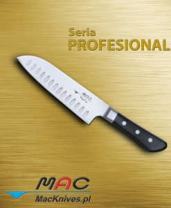Santoku – nóż Santoku. Ostrze 170 mm Wszechstronny nóż Santoku z ostrzem z zagłębieniami.
