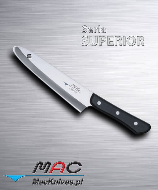 Uniwersalny nóż kuchenny idealny do cięcia, krojenia większości produktów spożywczych. Ostrze 185 mm