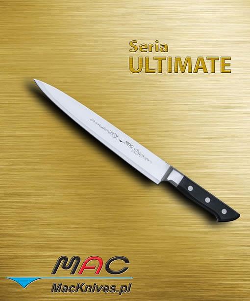 Slicer – nóż do krojenia i filetowania. Wąski nóż do filetowania i krojenia pieczeni, drobiu, ryb, jak również kanapek i ciast. Ostrze 260 mm