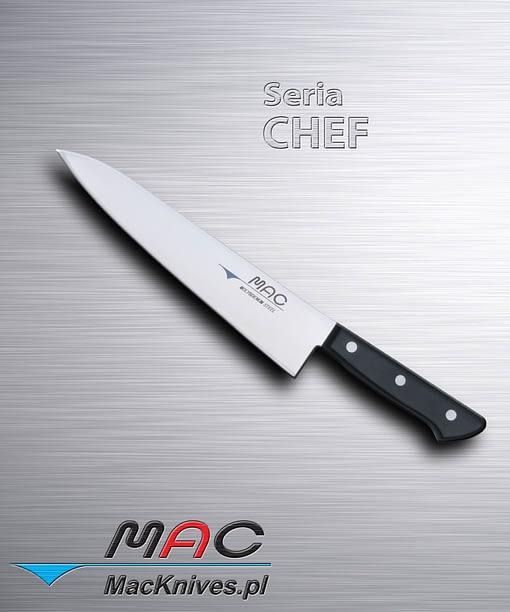 Chef Knife – nóż szefa kuchni. Ostrze 215 mm Dobrze wyważony nóż kuchenny do wszechstronnego wykorzystania.