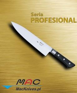 Chef Knife – nóż szefa kuchni. Ostrze 220 mm Nóż szefa kuchni do wszechstronnego wykorzystania.