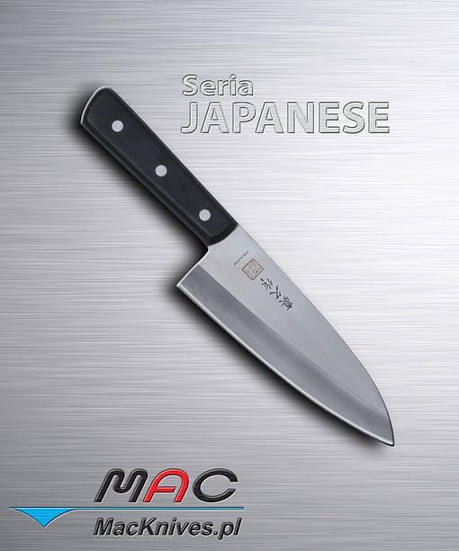 Japanese Deba Cleaver Knife – japoński tasak Deba. Ciężki tasak do cięcia ryb i kości. Ostrze 165 mm.