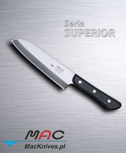 Wszechstronny kuchenny nóż Santoku. Ostrze 170 mm